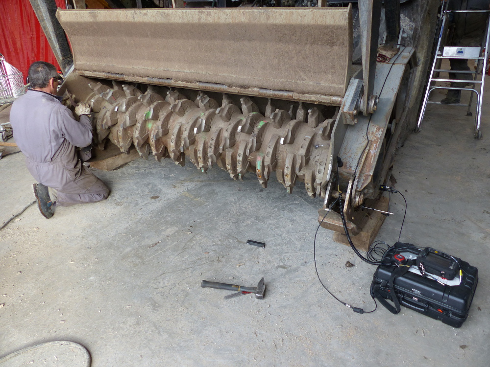 Equilibrage sur site rotor broyeur