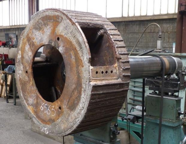 Equilibrage rotor concasseur de carriere
