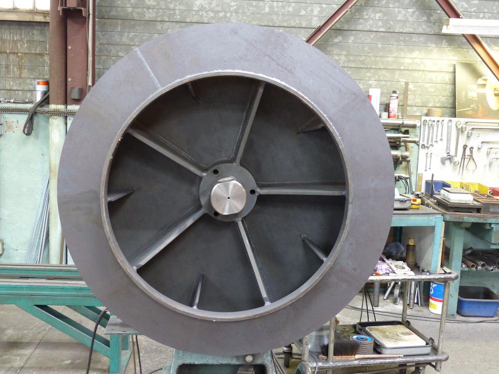 Équilibrage ventilateur acier réfractaire
