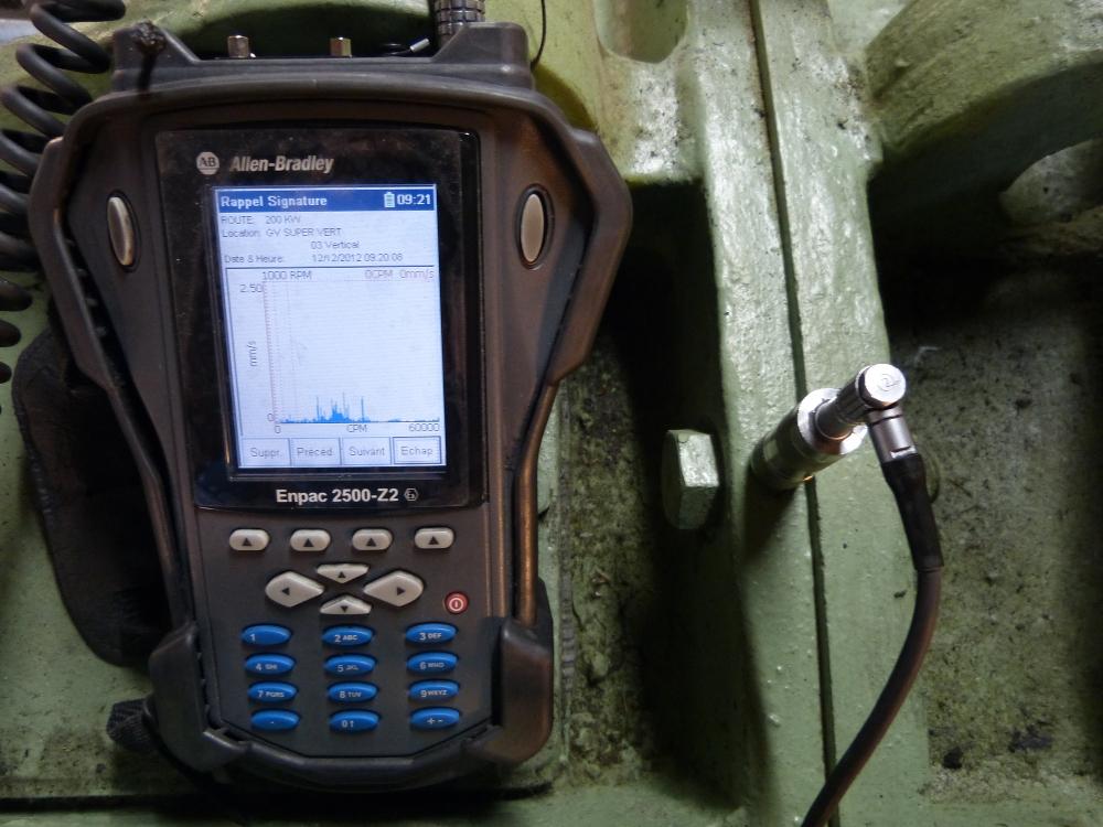 Contrôle vibratoire centrale hydraulique
