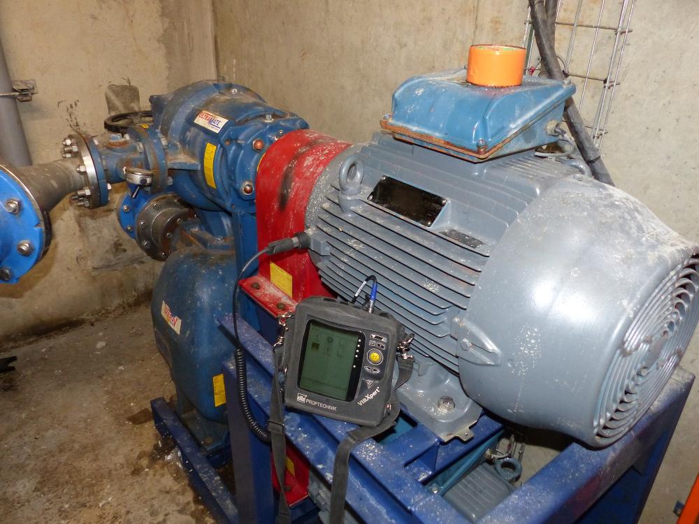 Contrôle vibratoire moto pompe station épuration