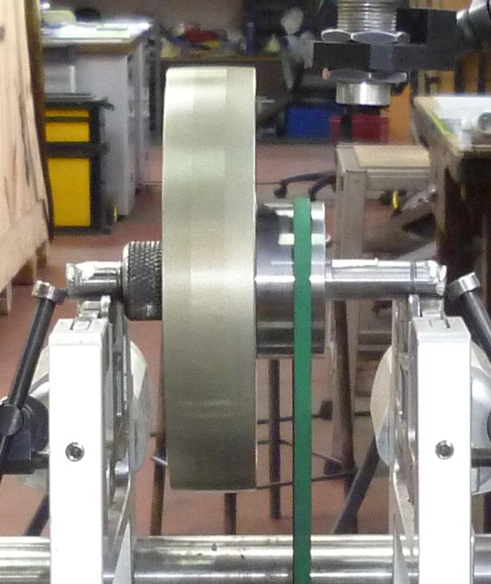 Equilibrage poulie cabestan aluminium