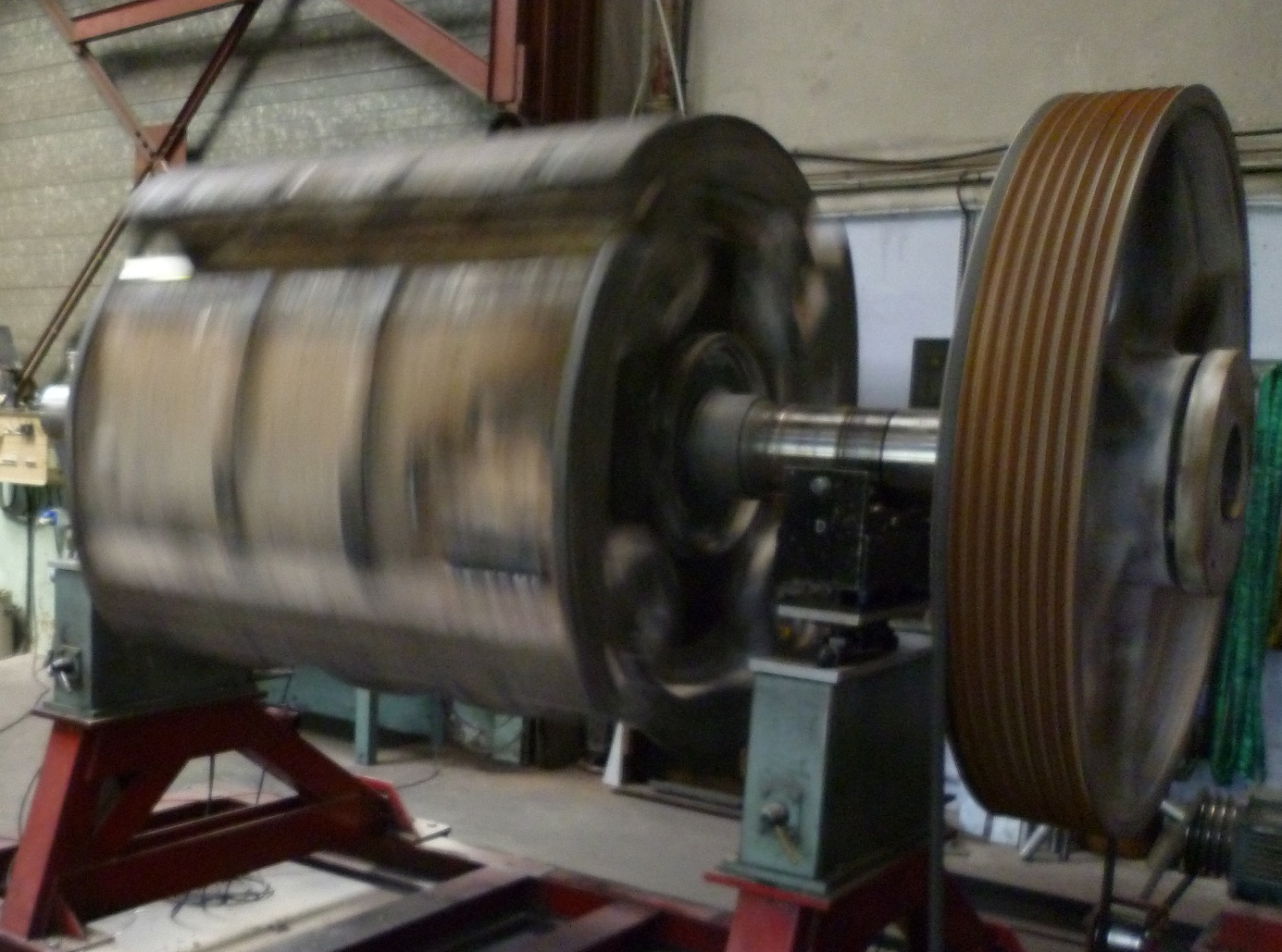Equilibrage rotor concasseur 5 tonnes