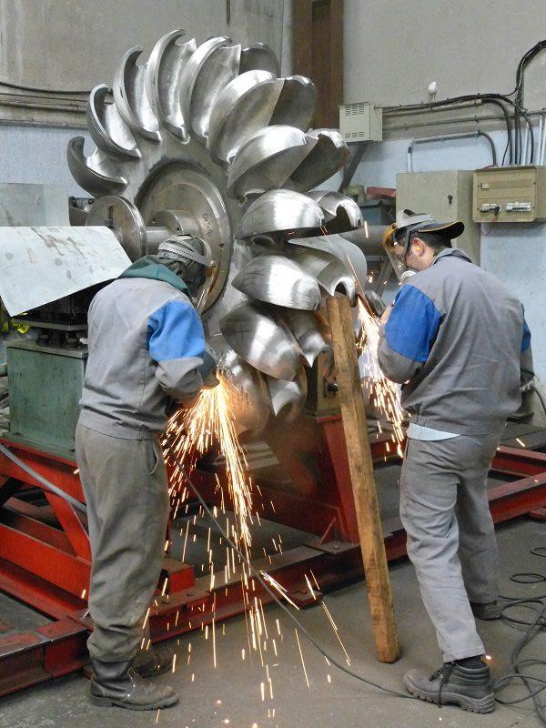 Equilibrage roue Pelton 4500 kg