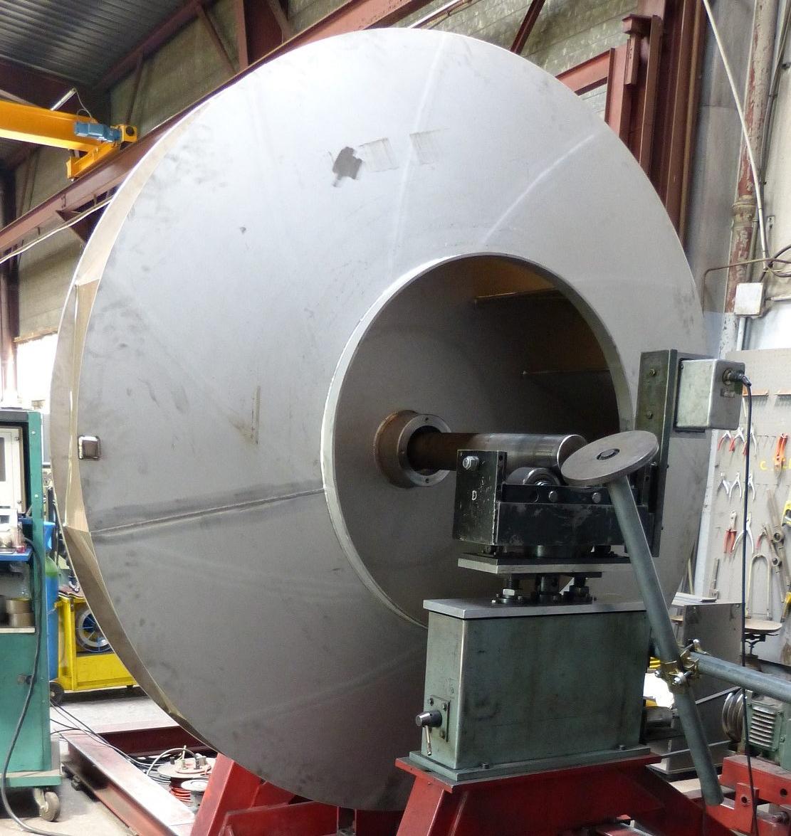 Equilibrage ventilateur inox 2050 mm