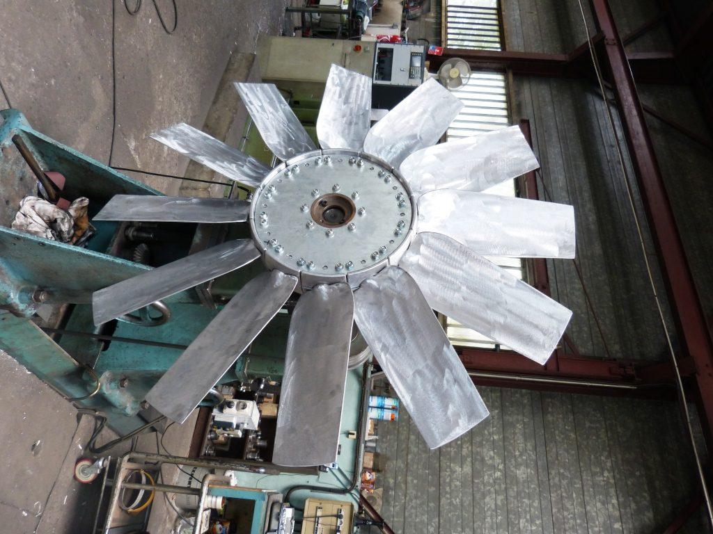 Équilibrage ventilateur 12 pales