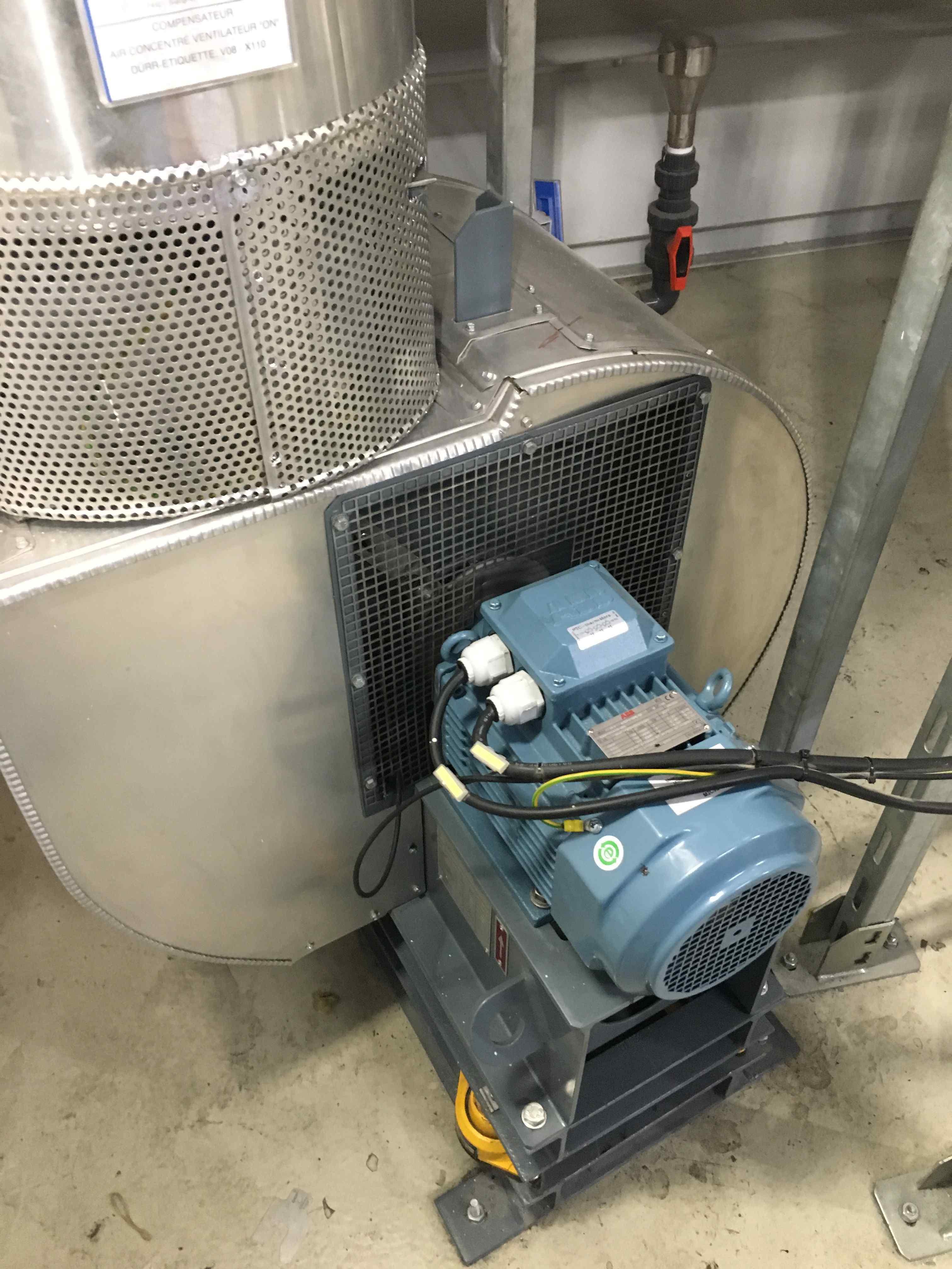 Equilibrage d'un ventilateur sur site